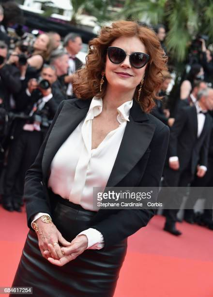 Actor Susan Sarandon attends the 'Loveless ' premiere during the 70th annual Cannes Film Festival at Palais des Festivals on May 18 2017 in Cannes...