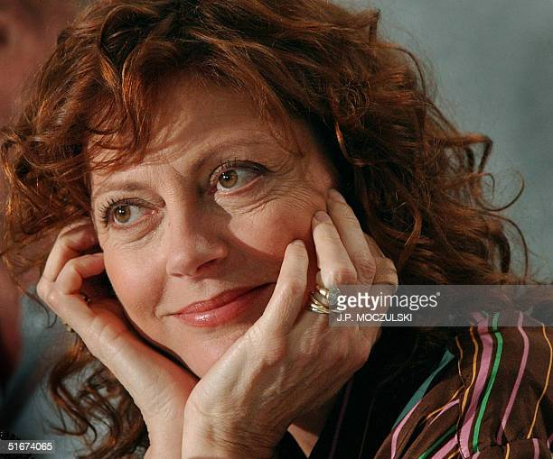 7aa1dfe57d Actor Susan Sarandon listens to a question during a news conference  discussing her new film Moonlight