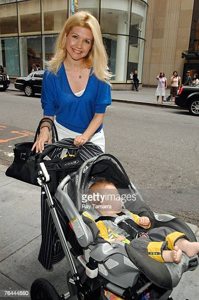 Actor Susan Yeagley and her son Gable Ness Nealon attend the Late Night With Conan O'Brien taping at NBC Studios August 31 2007 in New York City