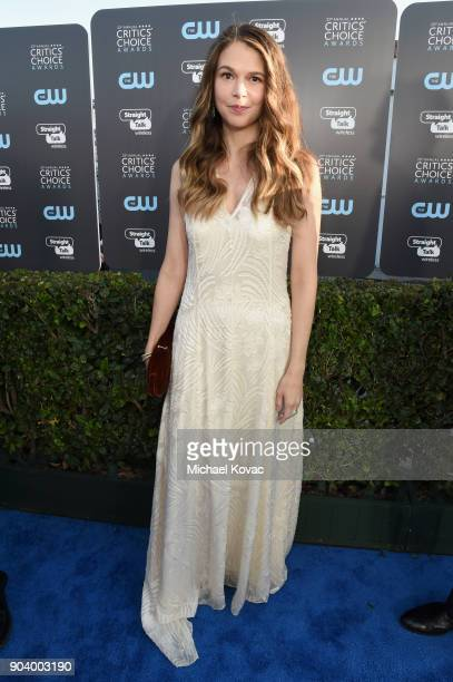 Actor Sutton Foster attends Moet Chandon celebrate The 23rd Annual Critics' Choice Awards at Barker Hangar on January 11 2018 in Santa Monica...