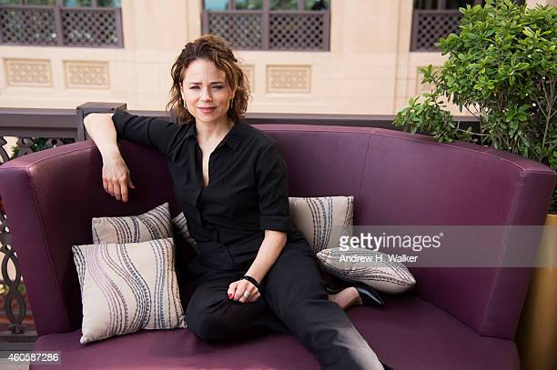 Actor Suzanne Clement is photographed at the 11th Annual Dubai International Film festival held at the Madinat Jumeriah Complex on December 16 2014...