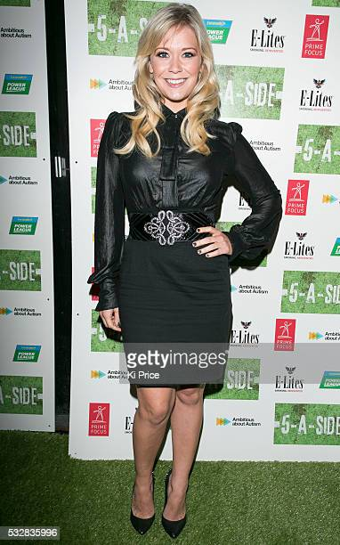 Actor Suzanne Shaw arrives to the screening of 5 A Side on Wednesday 18 2013 Five A Side stars Keith Duffy of Boyzone and is 5ASIDE is a London based...