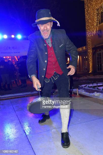 Actor Sven Martinek attends the Angermaier 'Eisstock WM' at Park Cafe on January 15 2019 in Munich Germany