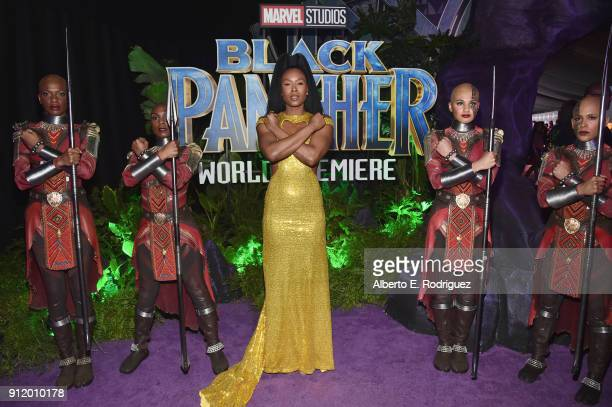 Actor Sydelle Noel at the Los Angeles World Premiere of Marvel Studios' BLACK PANTHER at Dolby Theatre on January 29 2018 in Hollywood California