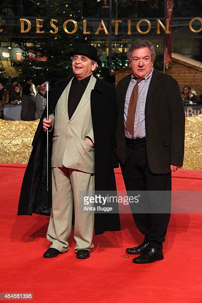 """Actor Sylvester McCoy and actor Ken Stott attend the """"The Hobbit: The Desolation of Smaug"""" European Premiere at Cinestar on December 9, 2013 in..."""