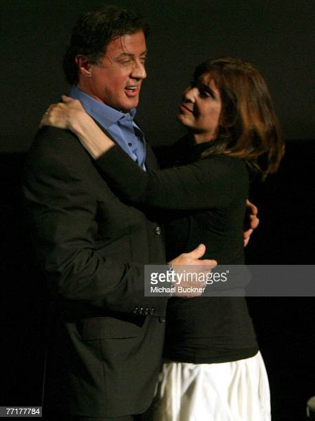 ACCESS*** Actor Sylvester Stallone and actress Talia Shire present the film Rocky at AFI's 40th Anniversary celebration presented by Target held at...