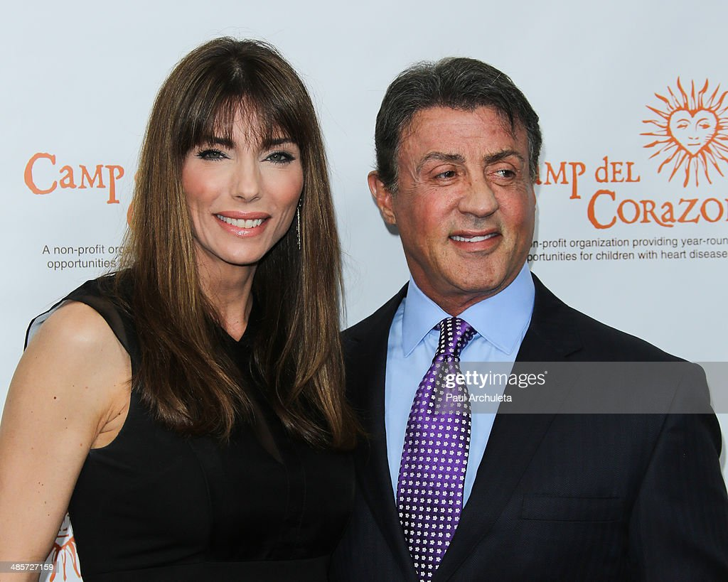 Actor Sylvester Stallone and his Wife Jennifer Flavin ...
