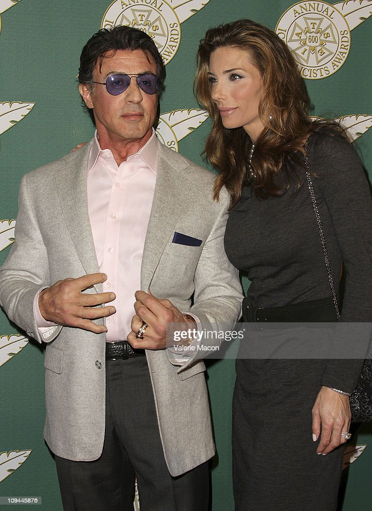 Actor Sylvester Stallone and his wife Jennifer Stallone ...