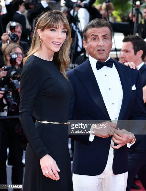 US actor Sylvester Stallone and his wife US model Jennifer Flavin arrive for the Closing Awards Ceremony of the 72nd annual Cannes Film Festival in...