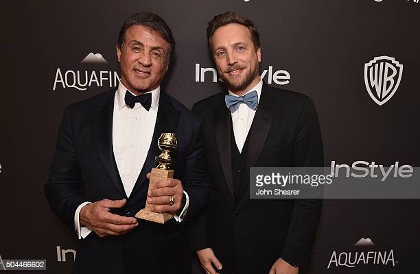 Actor Sylvester Stallone and InStyle Editorial Director Ariel Foxman attend The 2016 InStyle and Warner Bros 73rd annual Golden Globe Awards...