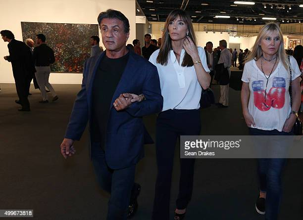 Actor Sylvester Stallone and Jennifer Flavin attend the VIP opening of Art Basel Miami Beach at the Miami Convention Center in Miami Florida on...