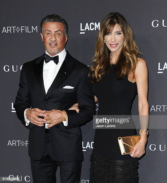 Actor Sylvester Stallone and wife Jennifer Flavin attend the 2016 LACMA Art Film gala at LACMA on October 29 2016 in Los Angeles California