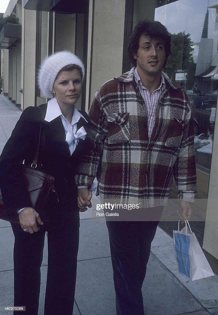 Actor Sylvester Stallone and wife Sasha Czack on April 12 ...