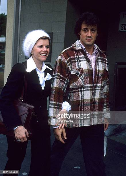Actor Sylvester Stallone and wife Sasha Czack on April 12 1978 shopping on Rodeo Drive in Beverly Hills California