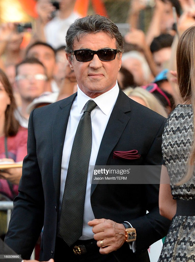 Actor Sylvester Stallone arrives at Lionsgate Films' 'The Expendables 2' premiere on August 15, 2012 in Hollywood, California.