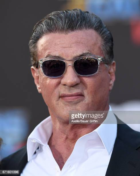 Actor Sylvester Stallone arrives at the premiere of Disney and Marvel's 'Guardians of the Galaxy Vol 2' at Dolby Theatre on April 19 2017 in...