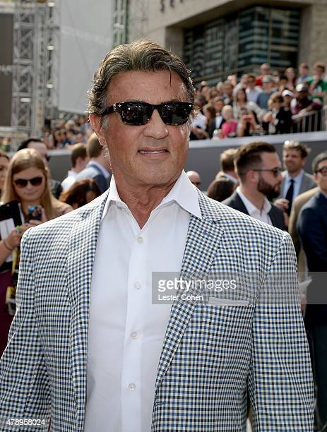 Actor Sylvester Stallone arrives at the premiere of Paramount Pictures' Terminator Genisys at Dolby Theatre on June 28 2015 in Hollywood California