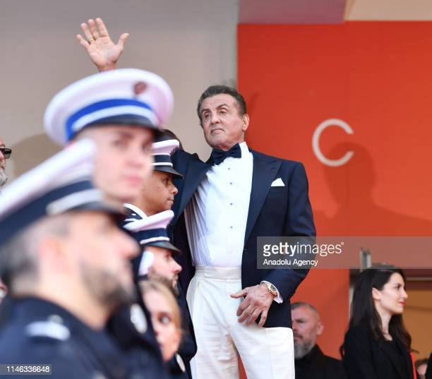 US actor Sylvester Stallone arrives for the Closing Awards Ceremony of the 72nd annual Cannes Film Festival in Cannes France on May 25 2019