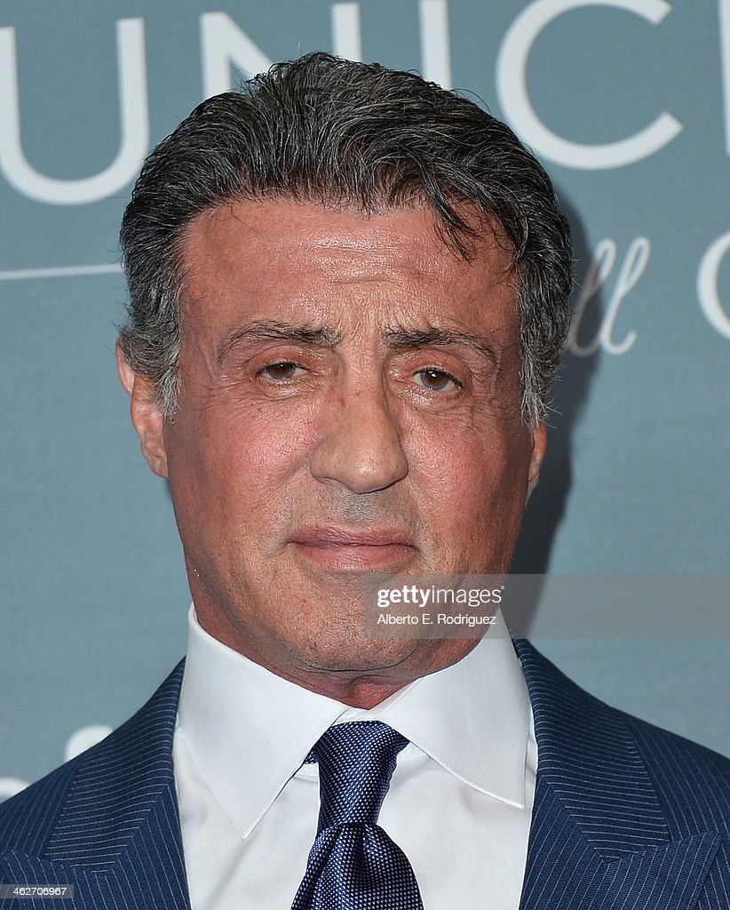 Actor Sylvester Stallone arrives to the 2014 UNICEF Ball Presented by Baccarat at the Regent Beverly Wilshire Hotel on January 14, 2014 in Beverly Hills, California.