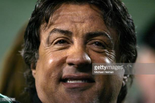 Actor Sylvester Stallone attend the Monday Night Football Game between the Philadelphia Eagles and the Carolina Panthers at Lincoln Financial Field...