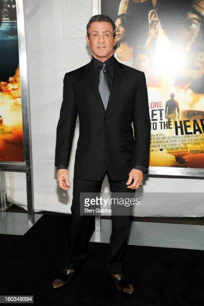 Actor Sylvester Stallone attends Bullet To The Head New York Premiere at AMC Lincoln Square Theater on January 29 2013 in New York City