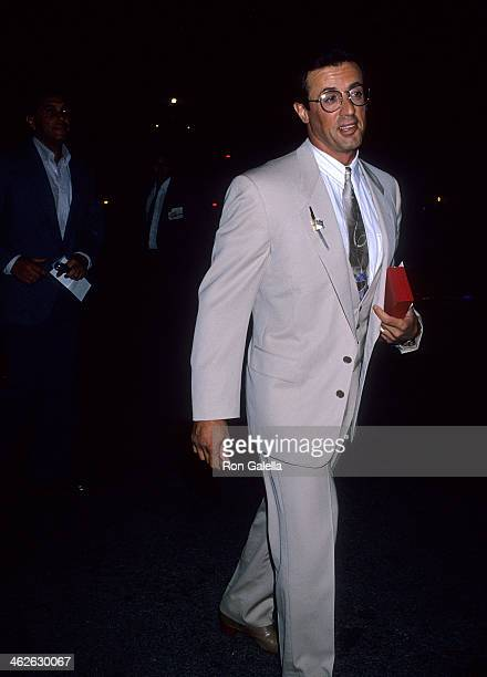 Actor Sylvester Stallone attends John Reid's 40th Birthday Party on September 9 1989 at a private estate in Beverly Hills California