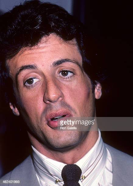 Actor Sylvester Stallone attends Lee Canalito and Curtis Whitner Press Conference/WeighIn for Heavyweight Boxing Match on July 6 1982 at the...