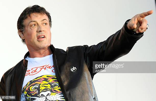 Actor Sylvester Stallone attends Rambo Japan Premiere at Roppongi Hills on May 8 2008 in Tokyo Japan