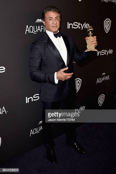 Actor Sylvester Stallone attends The 2016 InStyle And Warner Bros. 73rd Annual Golden Globe Awards Post-Party at The Beverly Hilton Hotel on January...