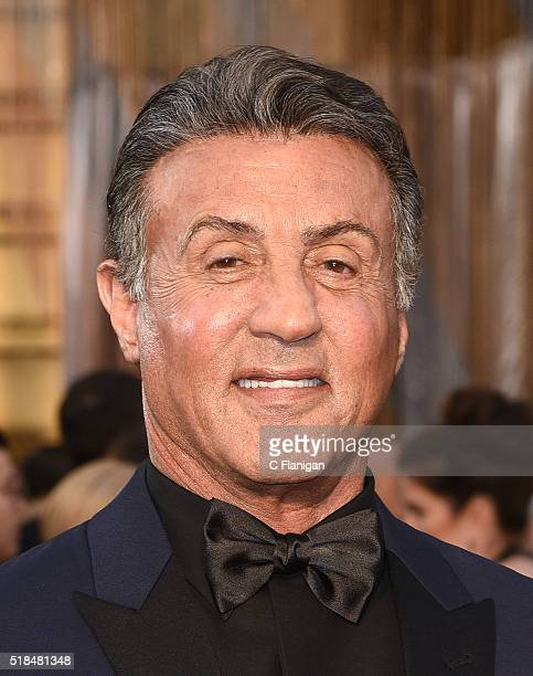 Actor Sylvester Stallone attends the 88th Annual Academy Awards at Hollywood Highland Center on February 28 2016 in Hollywood California