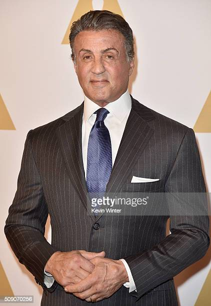 Actor Sylvester Stallone attends the 88th Annual Academy Awards nominee luncheon on February 8 2016 in Beverly Hills California