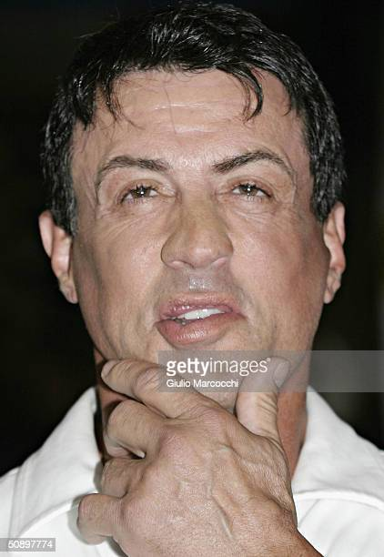 Actor Sylvester Stallone attends the Casting Call For The Unscripted Drama 'The Contender' on May 25 2004 at La Brea Boxing in Los Angeles California