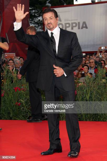 Actor Sylvester Stallone attends the Closing Ceremony Red Carpet And Inside at The Sala Grande during the 66th Venice Film Festival on September 12...
