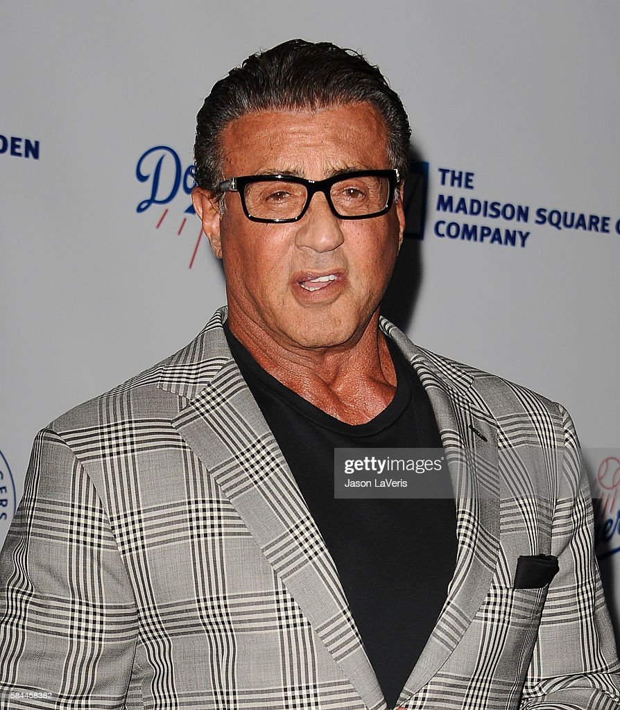 Actor Sylvester Stallone attends the Los Angeles Dodgers Foundation Blue Diamond gala at Dodger Stadium on July 28, 2016 in Los Angeles, California.