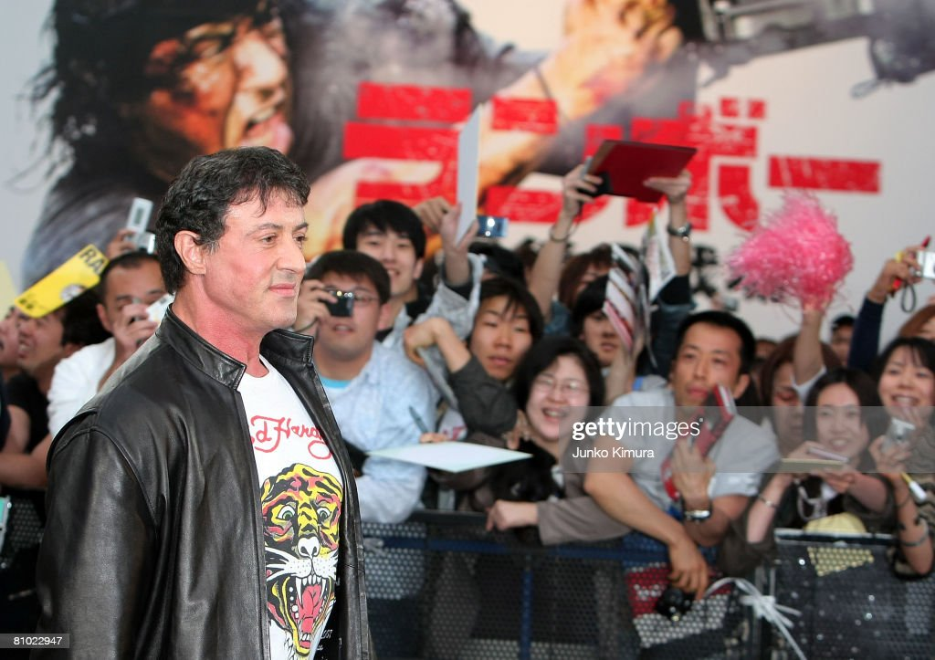 Actor Sylvester Stallone attends the 'Rambo' Japan Premiere at Roppongi Hills on May 8, 2008 in Tokyo, Japan. The film will open on May 24 in Japan.