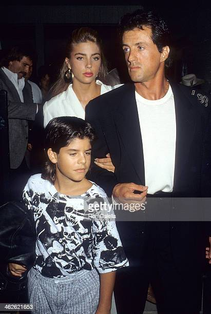 Actor Sylvester Stallone date Jennifer Flavin and his son Sage Stallone attend Mike O'Hara's Power Polo and Cocktail Reception to Benefit Vital...