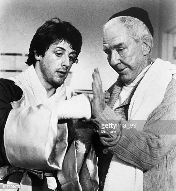 Actor Sylvester Stallone described as looking like Rock Hudson sculpted from mashed potatoes wrote the script to 'Rocky' and then got the title role...