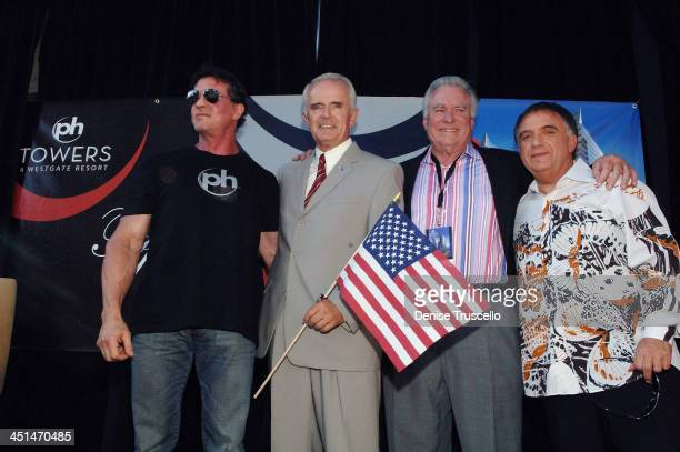 Actor Sylvester Stallone Governor Jim Gibbons President and CEO of Westgate David A Siegel and Planet Hollywood CoChairman attends Planet Hollywood...