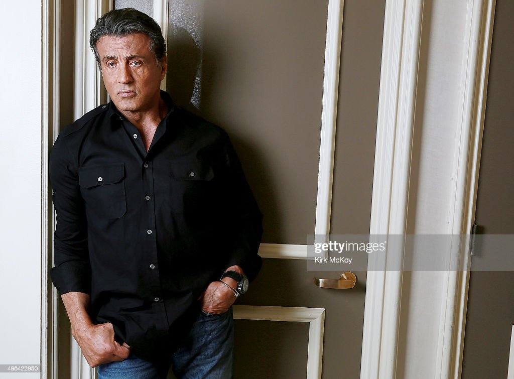 Actor Sylvester Stallone is photographed for Los Angeles Times on October 15, 2015 in Santa Clarita, California. PUBLISHED IMAGE.