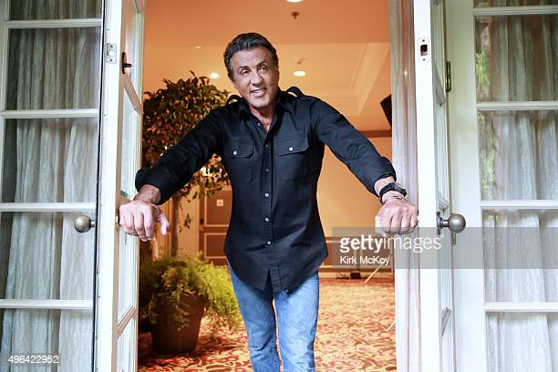 Actor Sylvester Stallone is photographed for Los Angeles Times on October 15 2015 in Santa Clarita California PUBLISHED IMAGE CREDIT MUST READ Kirk...