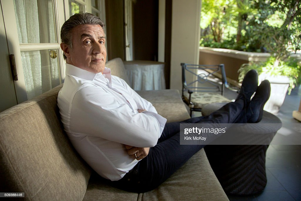 Actor Sylvester Stallone is photographed for Los Angeles Times on December 15, 2015 in Los Angeles, California. PUBLISHED IMAGE.