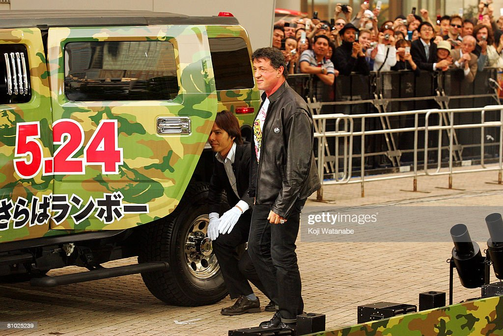 Actor Sylvester Stallone walks the red carpet during 'Rambo' Japan Premiere at Roppongi Hills May 8, 2008 in Tokyo, Japan. The film will open on May 24 in Japan.