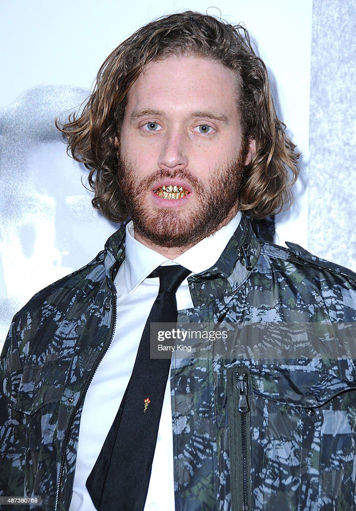 Actor T. J. Miller arrives at the premiere of 'Silicon Valley' on April 3, 2014 at Paramount Studios in Hollywood, California.