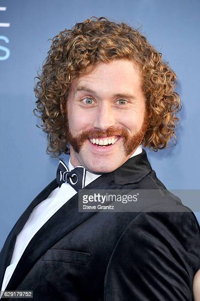 Actor T J Miller attends The 22nd Annual Critics' Choice Awards at Barker Hangar on December 11 2016 in Santa Monica California