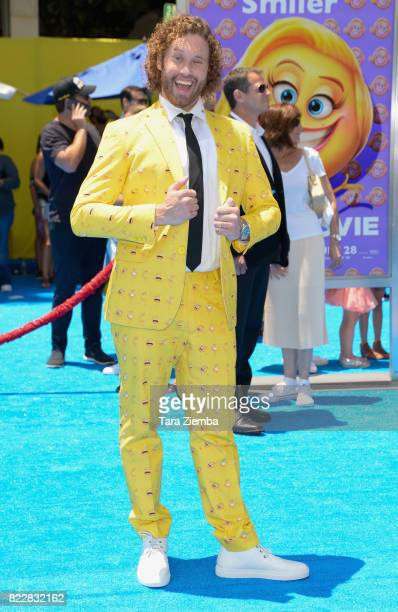 Actor T J Miller attends the premiere of Columbia Pictures and Sony Pictures Animation's 'The Emoji Movie' at Regency Village Theatre on July 23 2017...