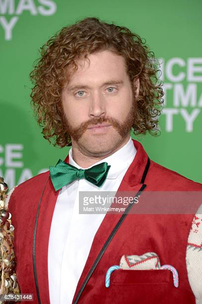 Actor T J Miller attends the premiere of Paramount Pictures' 'Office Christmas Party' at Regency Village Theatre on December 7 2016 in Westwood...