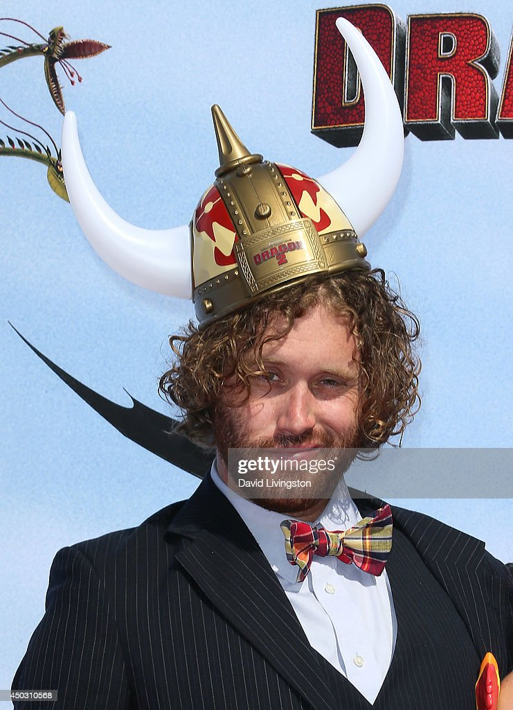 Actor T. J. Miller attends the premiere of Twentieth Century Fox and DreamWorks Animation 'How to Train Your Dragon 2' at the Regency Village Theatre on June 8, 2014 in Westwood, California.