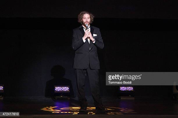 Actor T J Miller speaks on stage at the 16th annual Golden Trailer Awards held at Saban Theatre on May 6 2015 in Beverly Hills California