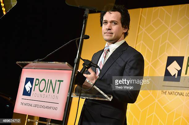 Actor T R Knight speaks onstage at the 2015 Point Honors Gala at New York Public Library on April 13 2015 in New York City