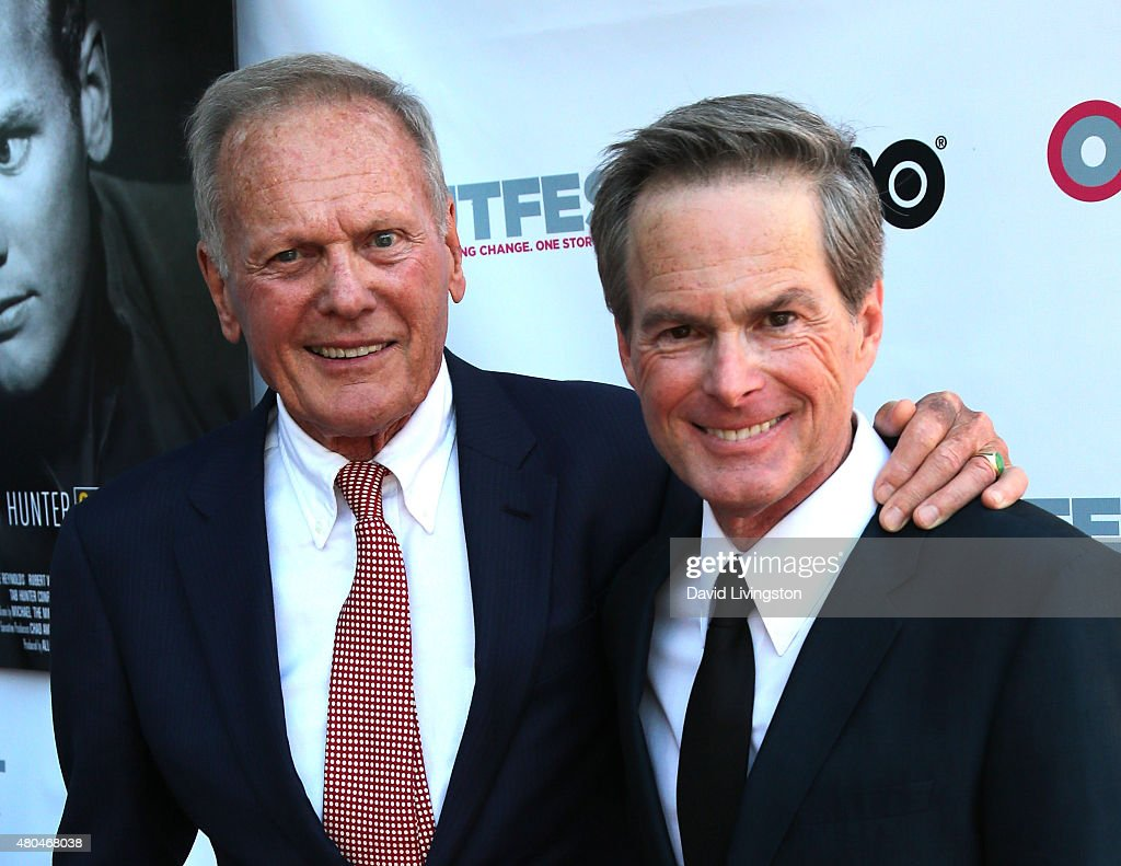 Actor Tab Hunter (L) and life partner producer Allan Glaser attend a screening of 'Tab Hunter Confidential' at the 2015 Outfest's LGBT Los Angeles Film Festival at the Directors Guild of America on July 11, 2015 in West Hollywood, California.